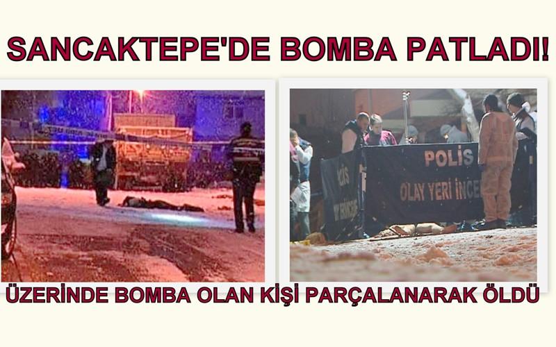 Üzerindeki bomba patladı