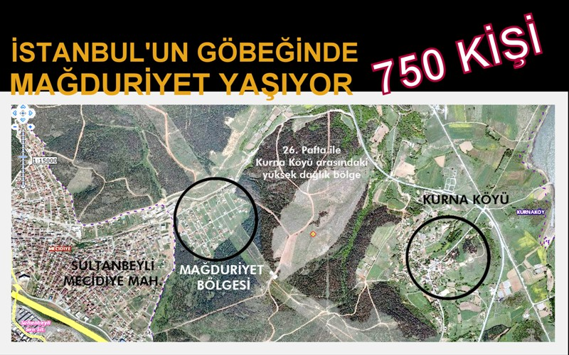 İstanbul'un orta yerinde mağduriyet