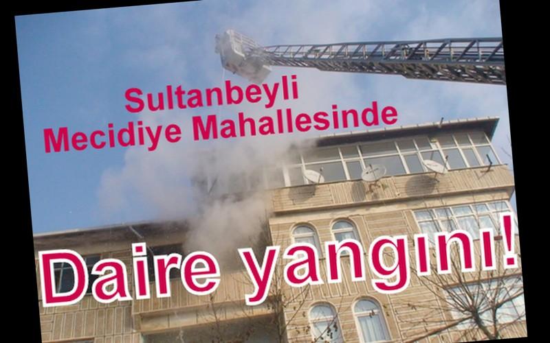 Mecidiye Mahallesinde korkutan yangın!