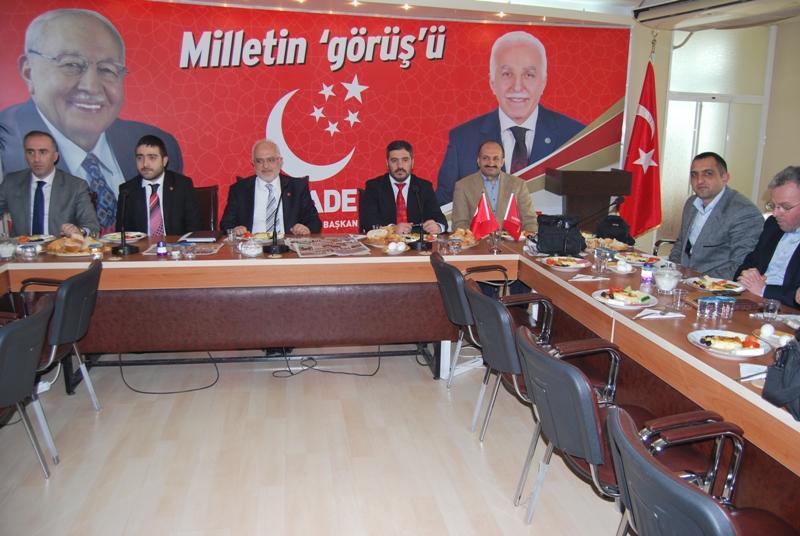 Selman Esmerer İstanbul yerel medyası ile buluştu