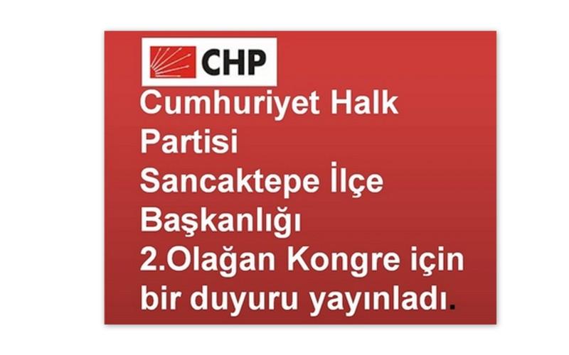 Sancaktepe CHP'den duyuru