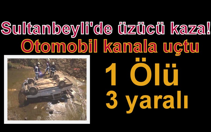Sultanbeyli'de otomobil kanala uçtu: 1 Ölü, 3 Yaralı