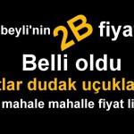 SULTANBEYLİ'NİN 2B FİYATLARI BELLİ OLDU!