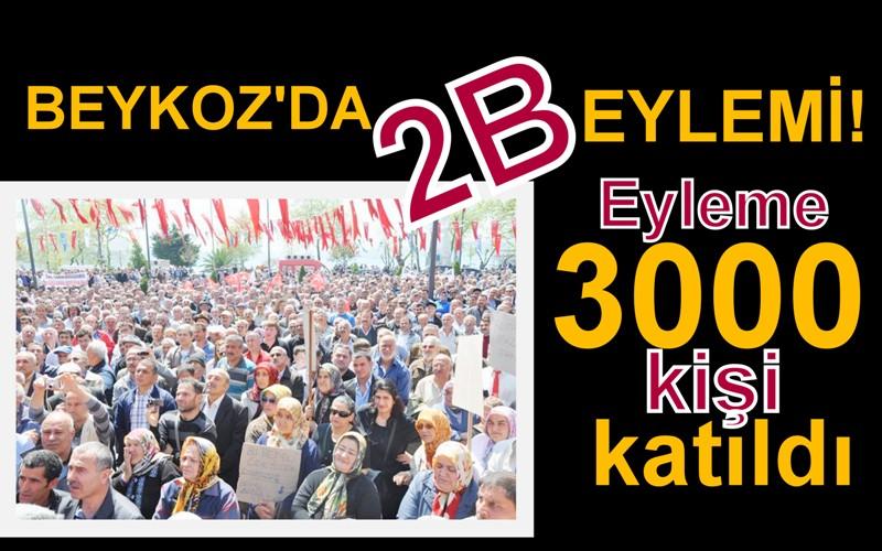 BEYKOZ'DA 2B MİTİNGİ