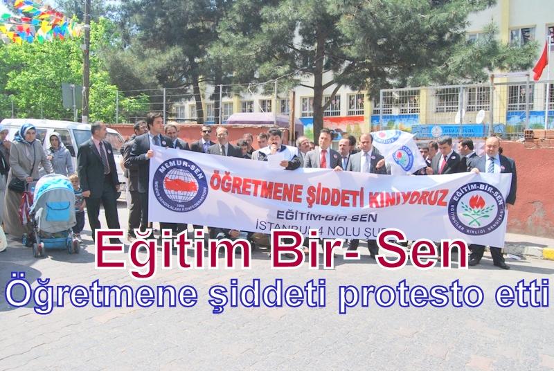 Sultanbeyli Eğitim Bir- Sen'den öğretmene şiddet protestosu