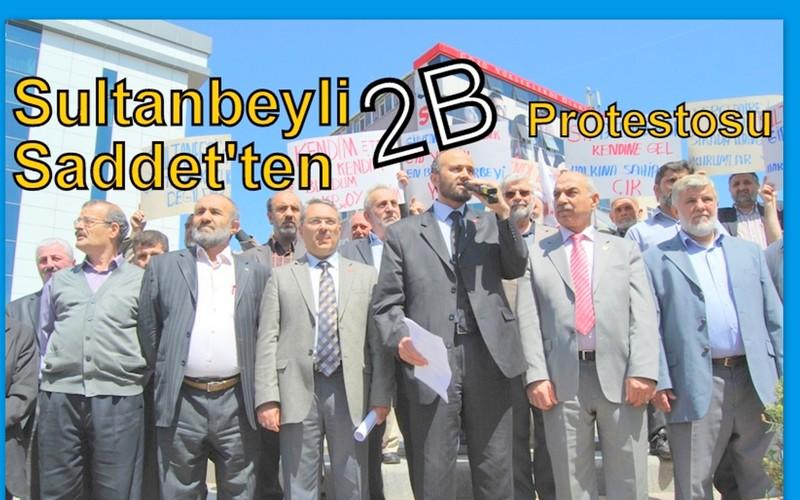 Sultanbeyli Saadet'ten 2B protestosu
