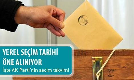 Yerel seçim tarihi öne alınıyor!