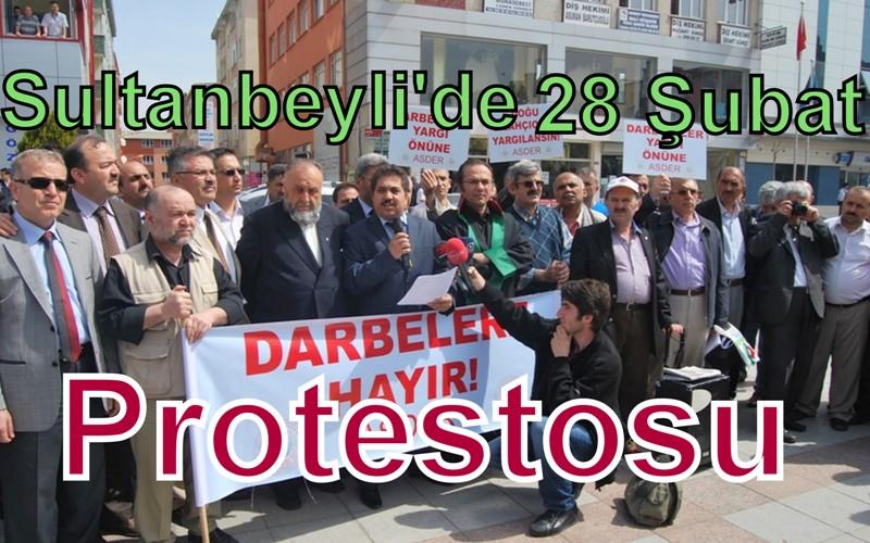 Sultanbeyli'de 28 Şubat Protestosu