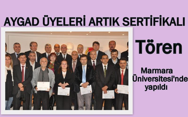 AYGAD üyesi gazeteciler sertifikalarını aldı