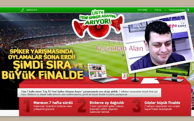 Sultanbeylili Feyzullah Alan, Lig Tv spikerliği için yarışıyor