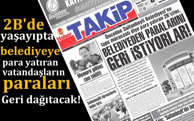 VATANDAŞIN PARASI GERİ ÖDENECEK!