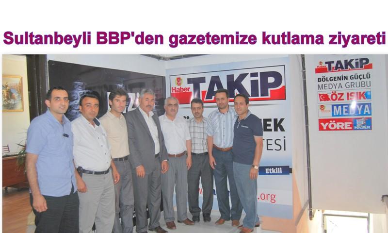 BBP'den gazetemize kutlama ziyareti