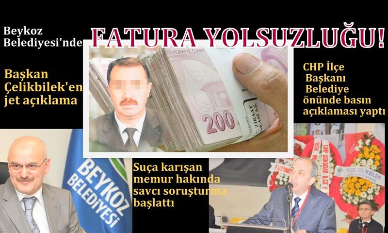 Beykoz Belediyesi'nde fatura yolsuzluğu!