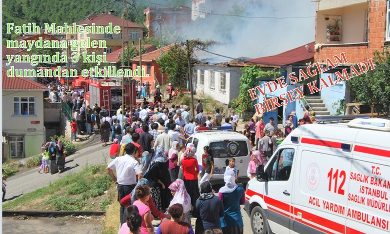 Çıkan yangında 3 kişi dumandan etkilendi