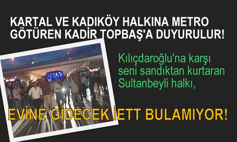 SULTANBEYLİ YOLCUSUNUN İETT İSYANI!