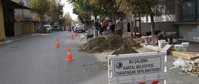 Kartal Belediyesi Kaldırımları Yeniliyor