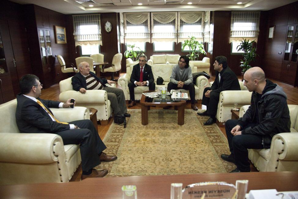 Gazetecilerden Başkan'a Ziyaret