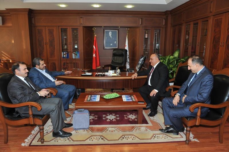 Jabalia Al Nazlah Belediye Başkanı'ndan Başkan Hasan Can'a Ziyaret
