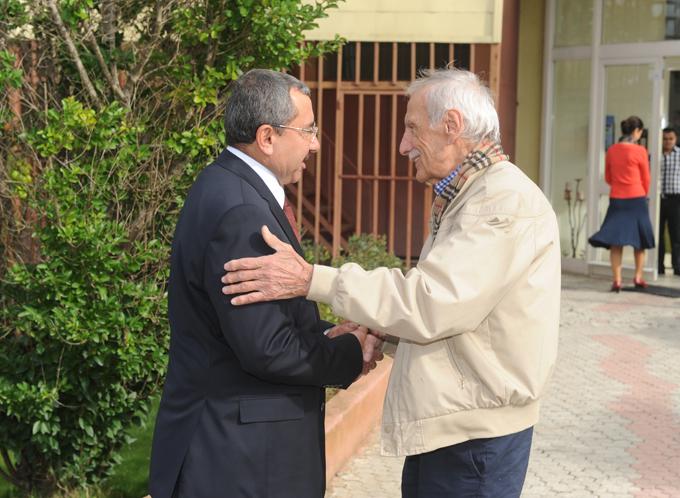 Başkan Erdem'den, Necmi Tanyolaç'a ziyaret