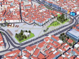 Aksaray'a 61 bin metrekarelik yeni meydan…