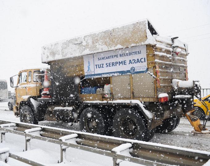 Sancaktepe, 37 personel ve 27 aracıyla kışa hazır