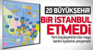 20 Büyükşehir Bir İstanbul Etmiyor