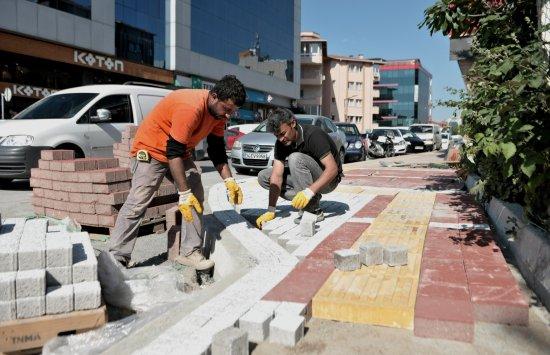 Beykoz'da Kaldırım Harekatı