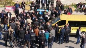 Ataşehir'deki Minibüsçülerden Eylem