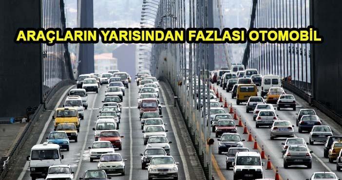 Türkiye'de trafiğe kayıtlı araç sayısı arttı