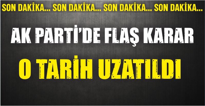 AK Parti'de Flaş Karar!