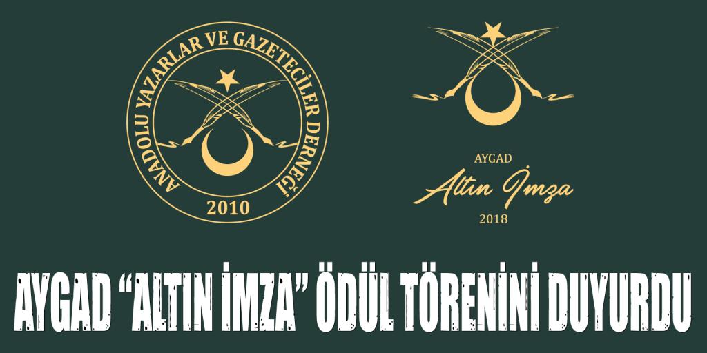 """AYGAD """"ALTIN İMZA"""" ÖDÜLLERİ GAZETECİLER GÜNÜNDE SAHİPLERİNİ BULACAK"""