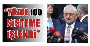 """""""YÜZDE 100 SİSTEME İŞLENDİ"""""""