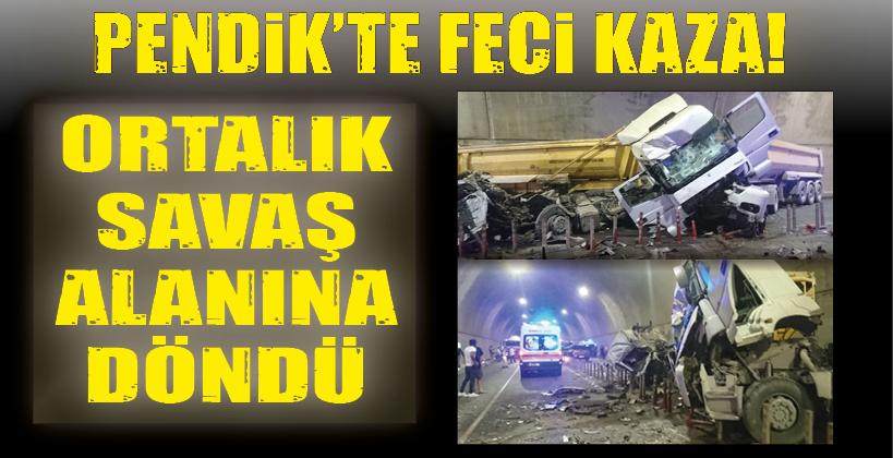 PENDİK'TE FECİ KAZA!