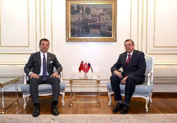 Rusya nın yeni İstanbul Başkonsolosu Buravov dan İmamoğlu na nezaket ziyareti