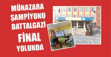 MÜNAZARA ŞAMPİYONU BATTALGAZİ FİNAL YOLUNDA