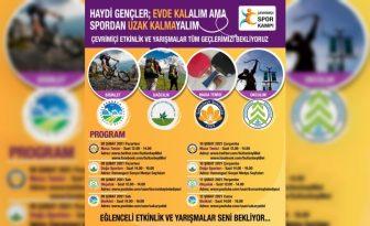 SULTANBEYLİ'DE GENÇLERE ÇEVRİMİÇİ SPOR KAMPI