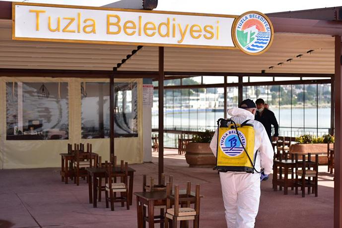 TUZLA'DA SOSYAL TESİSLER YENİ NORMALE HAZIRLANIYOR