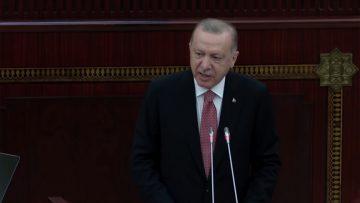 ERDOĞAN'DAN AZERBAYCAN MİLLİ MECLİSİ'NE: ÇOK BAHTİYARIM